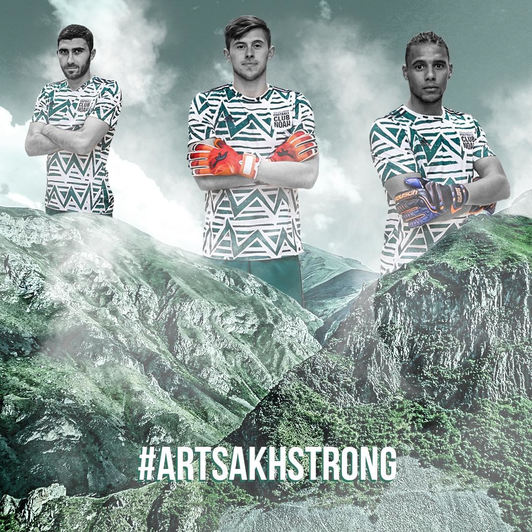 Introducing our new goalkeeper kits which symbolizes the majestic mountains and lavish nature of Artsakh. From now on, the boys will also wear this kit as a symbol of the unbreakable spirit o